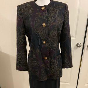 Vintage Jacqueline Ferrar Skirt Suit Lined Sz 10